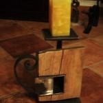 Holzkerzenständer