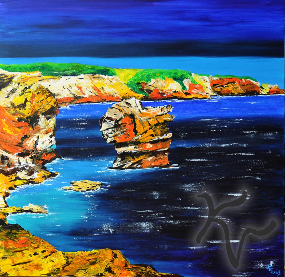 Korsica rote Felsen