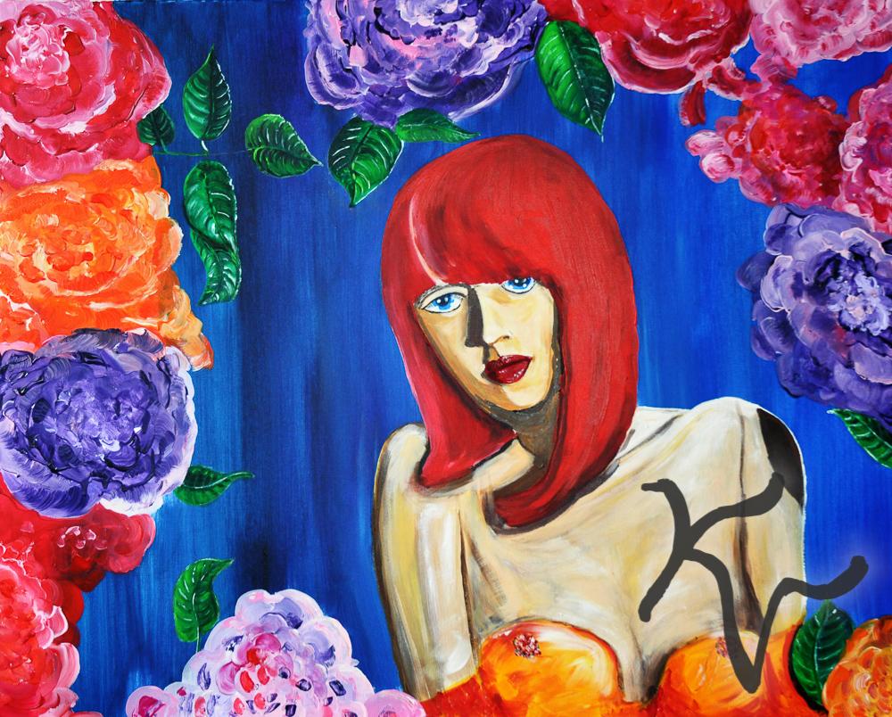 Schaufenster mit Rosen Florenz
