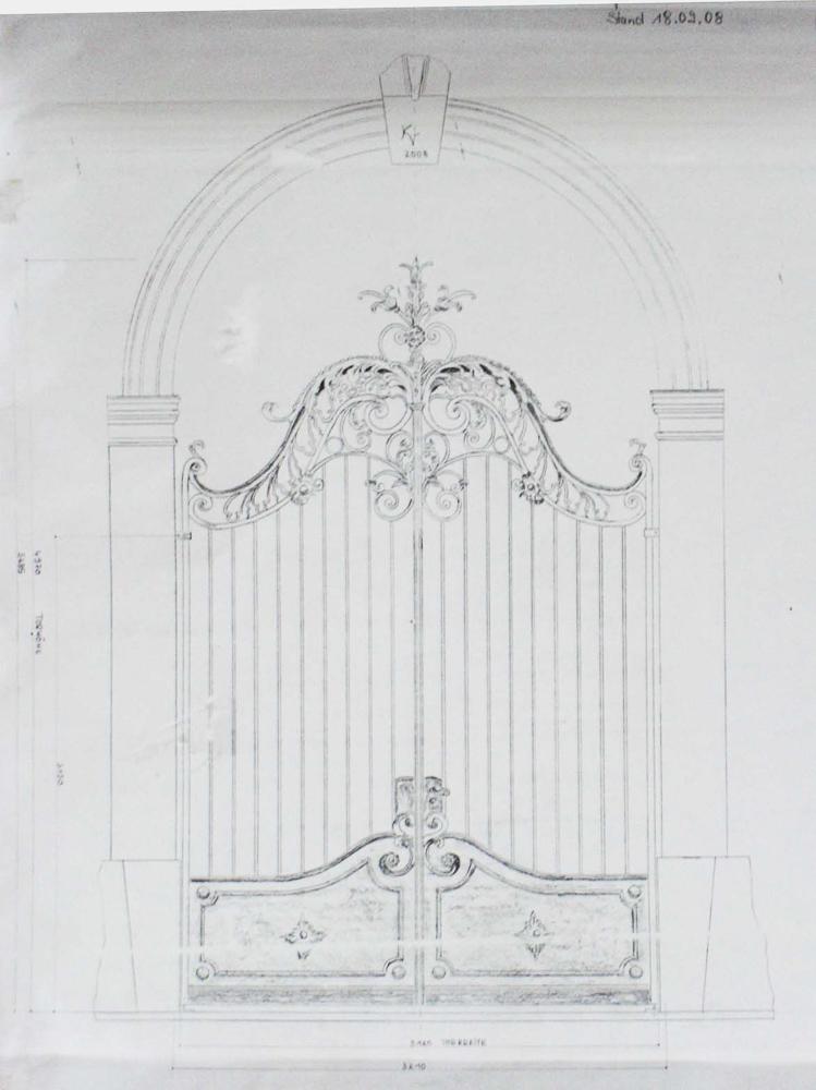 Torentwurf Zeichnung