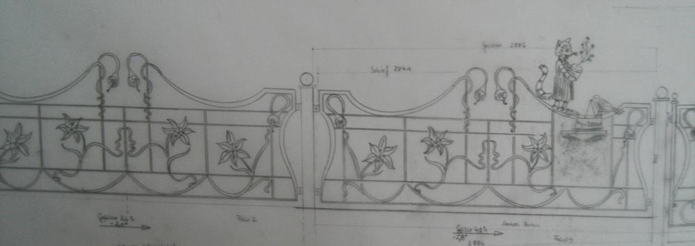 Vorab Foto Entwurf Zaunsfelder mit Briefkasten