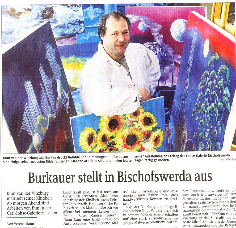 Zeitungsartikel Ausstellung SZ 2008 Seite1