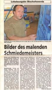 Zeitungsartikel Ausstellung WK 2008