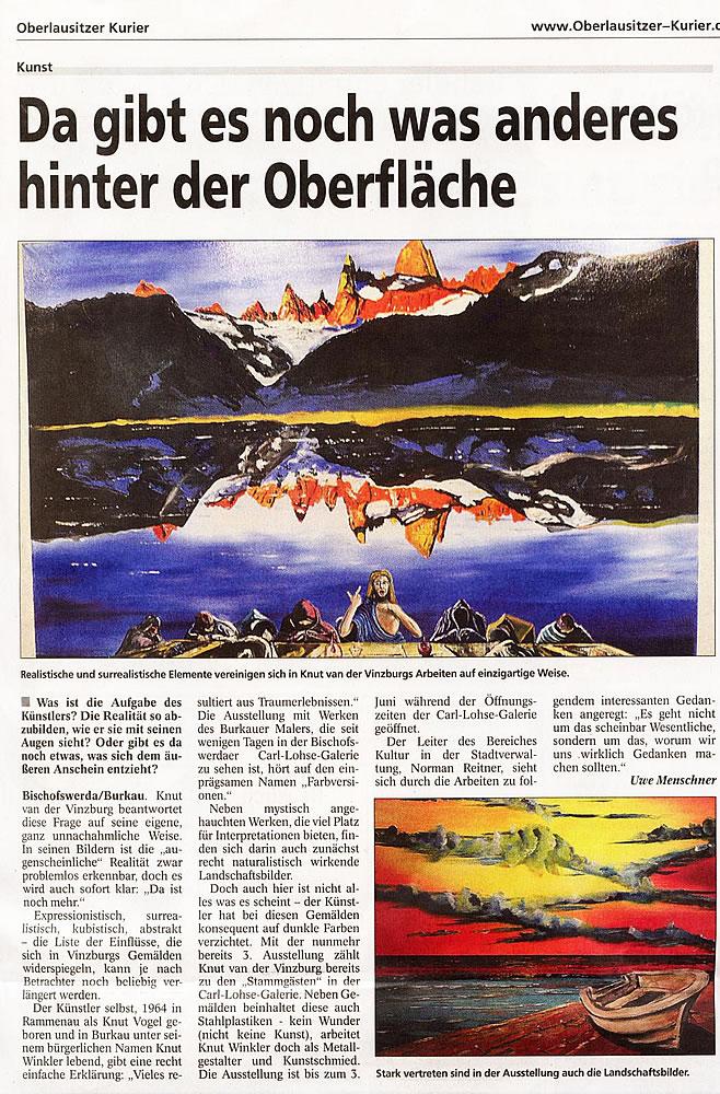Zeitungsartikel Ausstellung WK Mai 2012